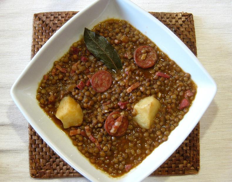 Ricetta: lenticchie con prosciutto iberico 100%