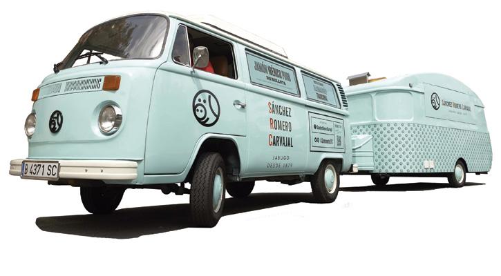 'Jamoneta', un furgoncino in giro per la Spagna a promuovere il prosciutto iberico Pata Negra